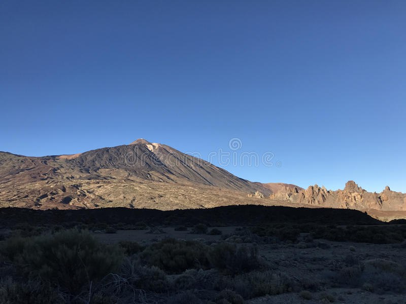 Mount Teide. A volcano on Tenerife in the Canary Islands stock image