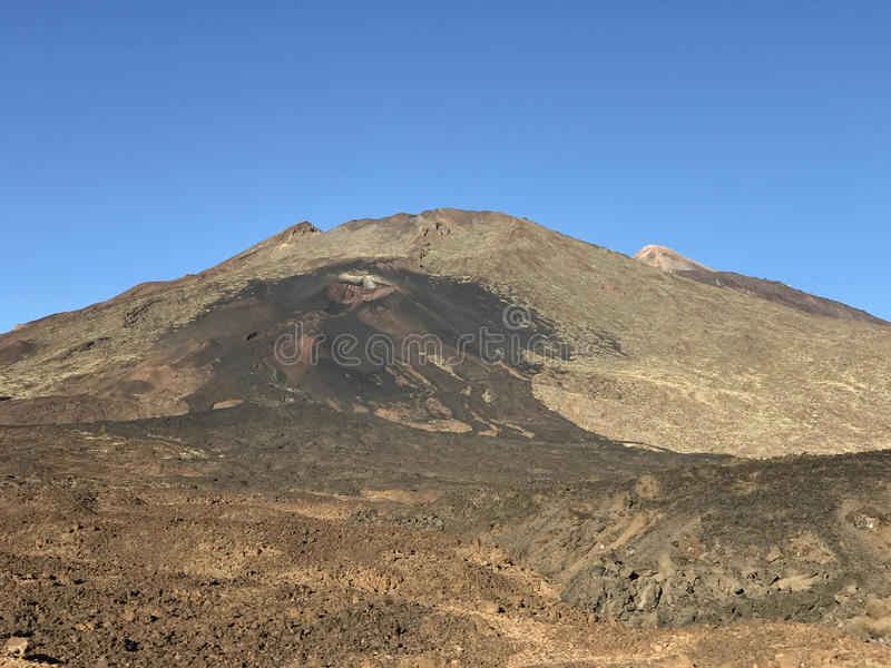 Mount Teide. A volcano on Tenerife in the Canary Islands royalty free stock photography
