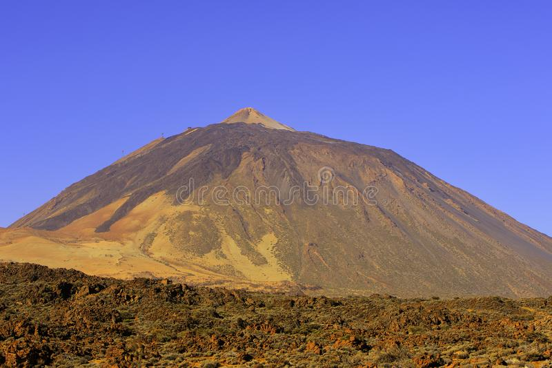 Mount Teide. The mount Teide volcano in Tenerife, the Canary islands. IT is part of the Teide National Park and a world heritage site stock images