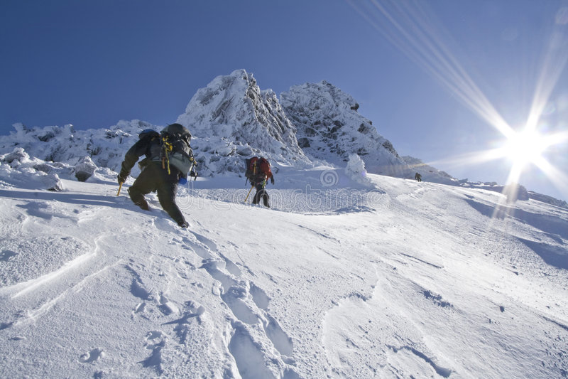 Mount Thielsen Traverse royalty free stock image