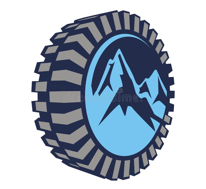 Mount tire offroad royalty free illustration