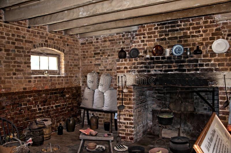 Mount Vernon a casa de George Washinton nos bancos do Rio Potomac nos EUA imagens de stock royalty free