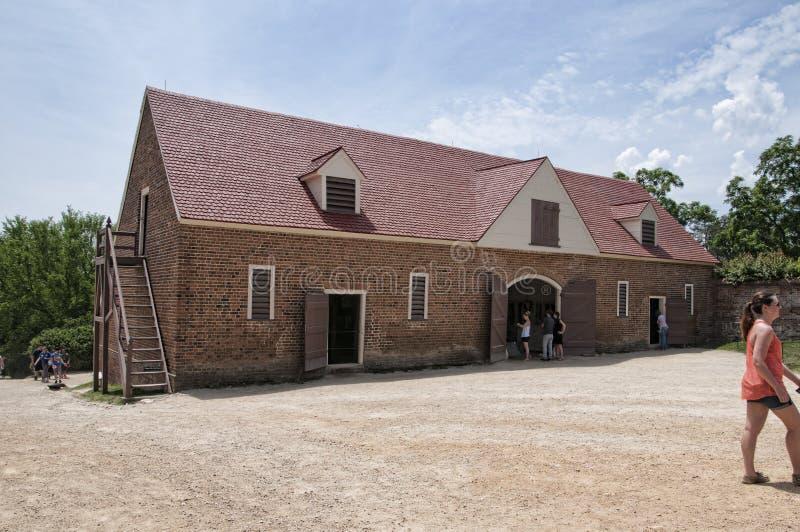 Mount Vernon het huis van George Washinton op de Banken van de Potomac Rivier in de V.S. stock foto