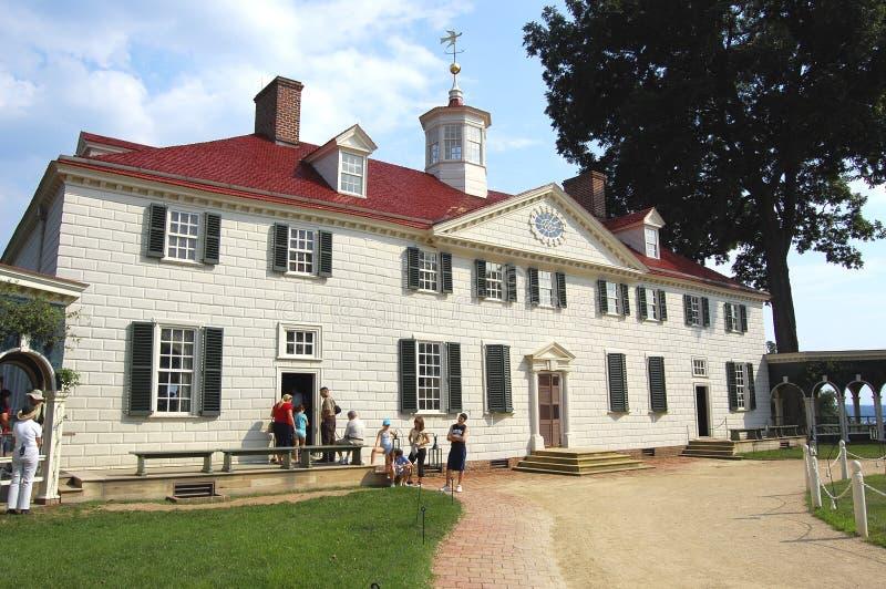 Mount Vernon van George Washington stock foto