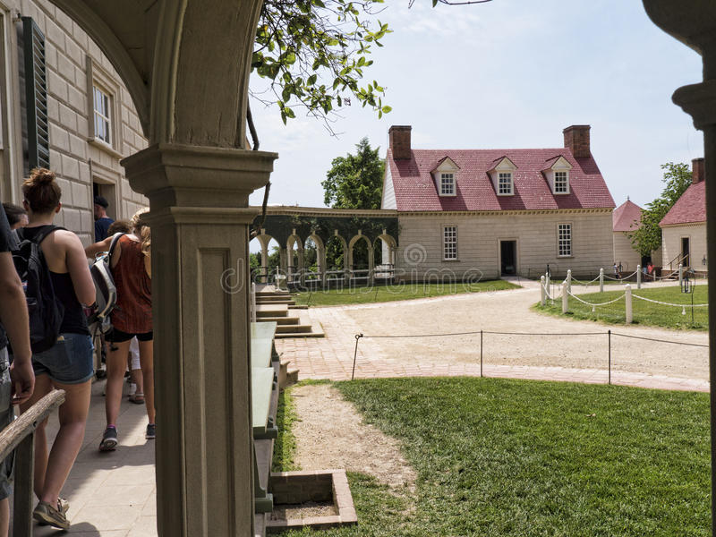 Mount Vernon was the plantation home of George Washington. George Washington, first President of the United States. The estate is situated on the banks of the stock photography