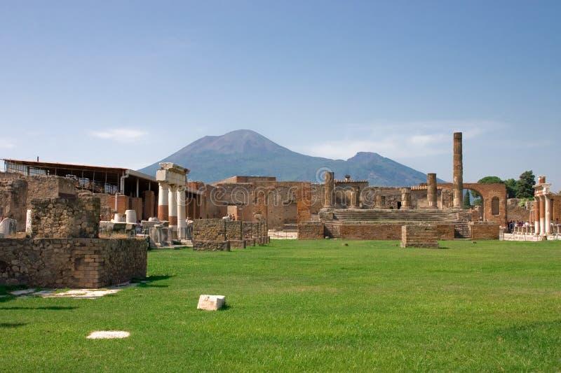 Mount Vesuvius. Is a volcano east of Naples, Italy stock image