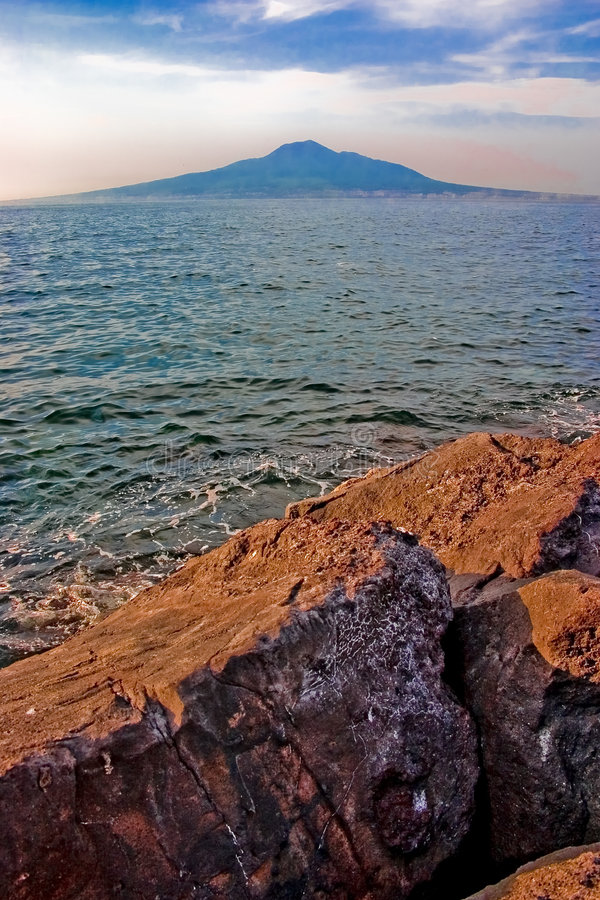 Mount Vesuvius. Is a volcano east of Naples, Italy royalty free stock photos