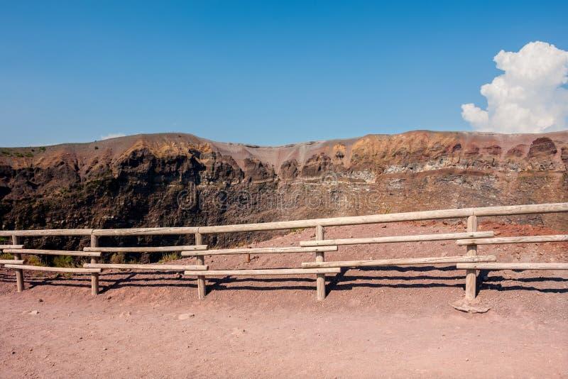 Mount Vesuvius, Italy. The crater of Mount Vesuvius. Naples, Italy stock photo