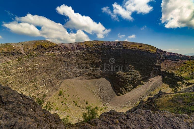 Mount Vesuvius, Italy. Italy. Mount Vesuvius - inside the crater royalty free stock photo