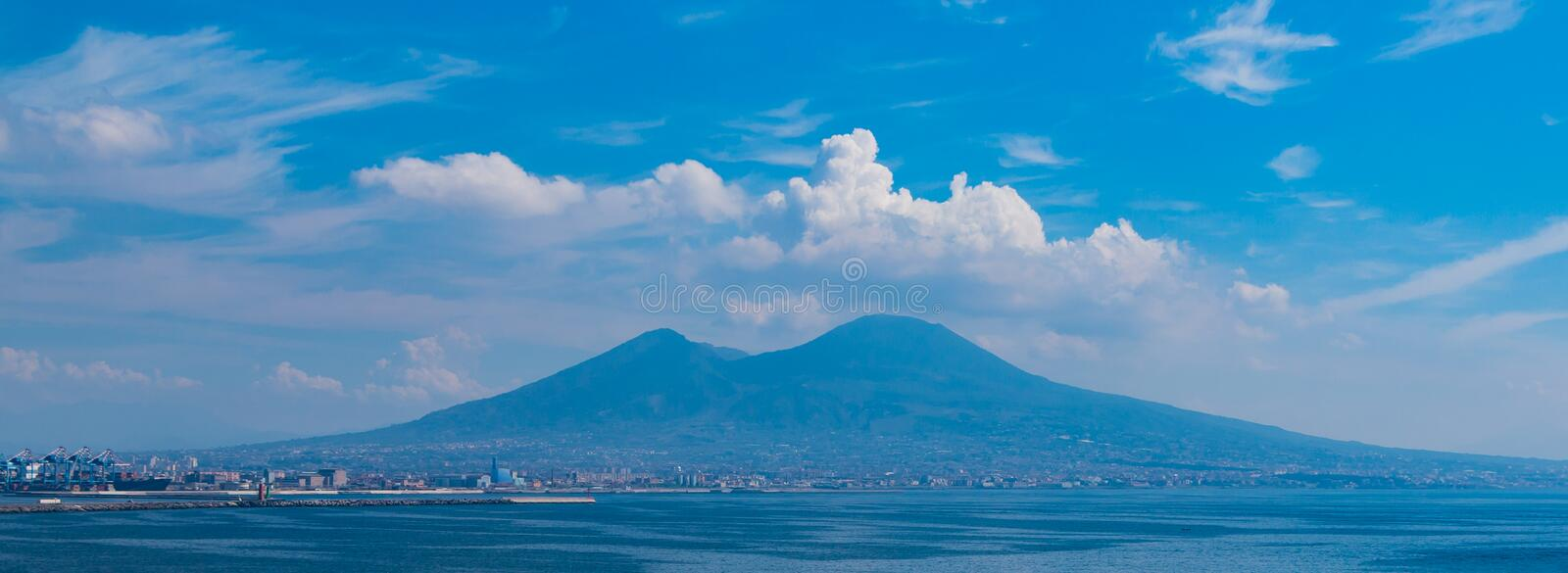 Mount Vesuvius IV. A picture of Mount Vesuvius on a cloudy day stock image