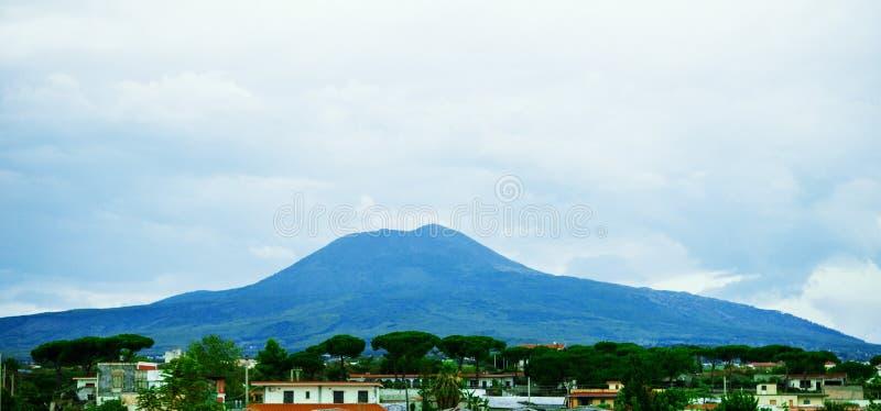 Mount Vesuvius. Paese Vesuviani, near Pompeii Naples, Italy stock image