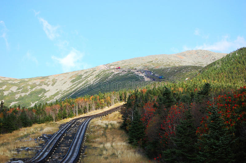 Mount Washington Cog Railroad royalty free stock images
