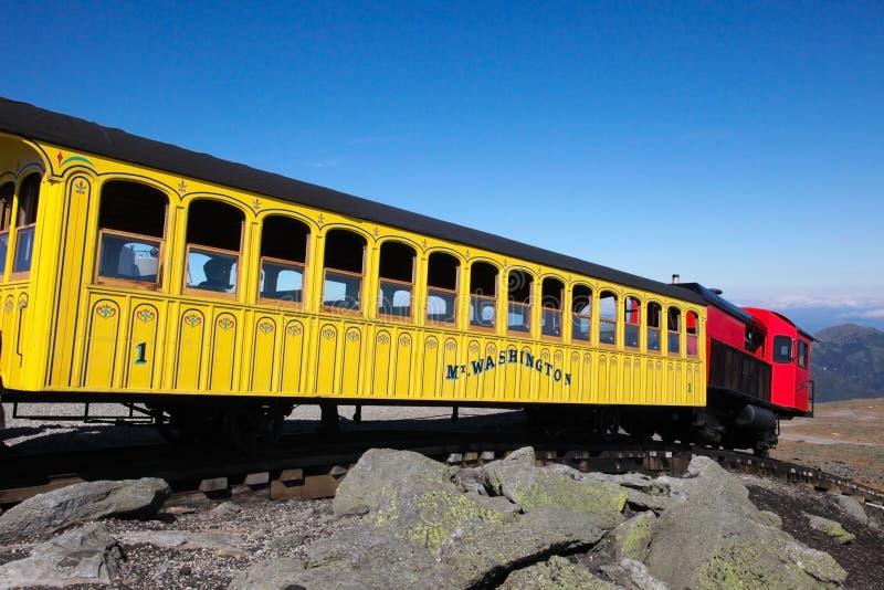 Mount Washington Cog Railroad. To the peak in the White Mountains, Coos County, New Hampshire, United States on September 25, 2011. The Mount Washington Cog royalty free stock image
