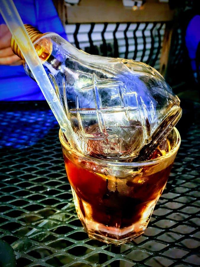 Shilo bulb alcaholic drink. Mount washington elixer fixer royalty free stock photography