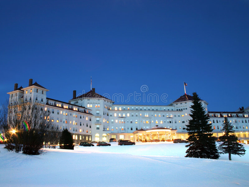 mount Washington uciekają się do hotelu zdjęcia stock