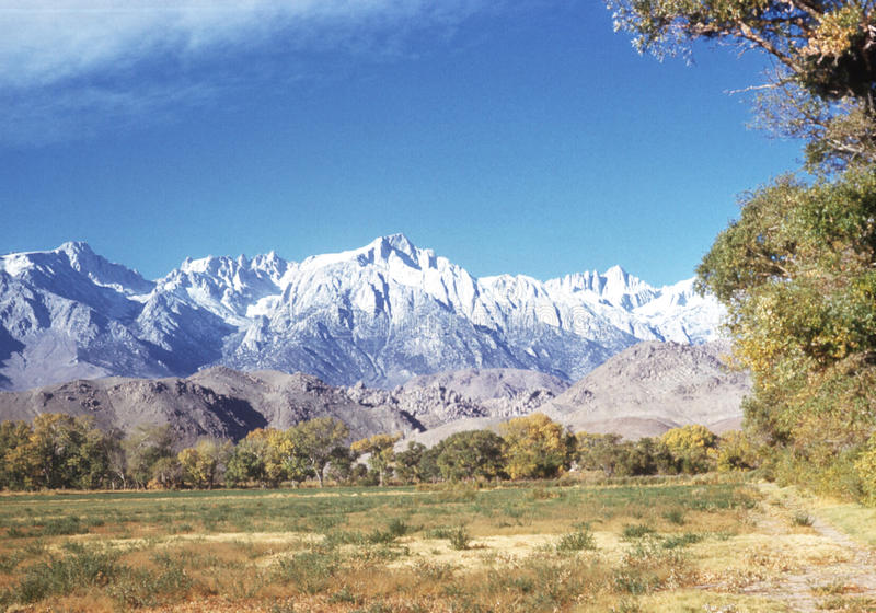 mount Whitney obrazy royalty free