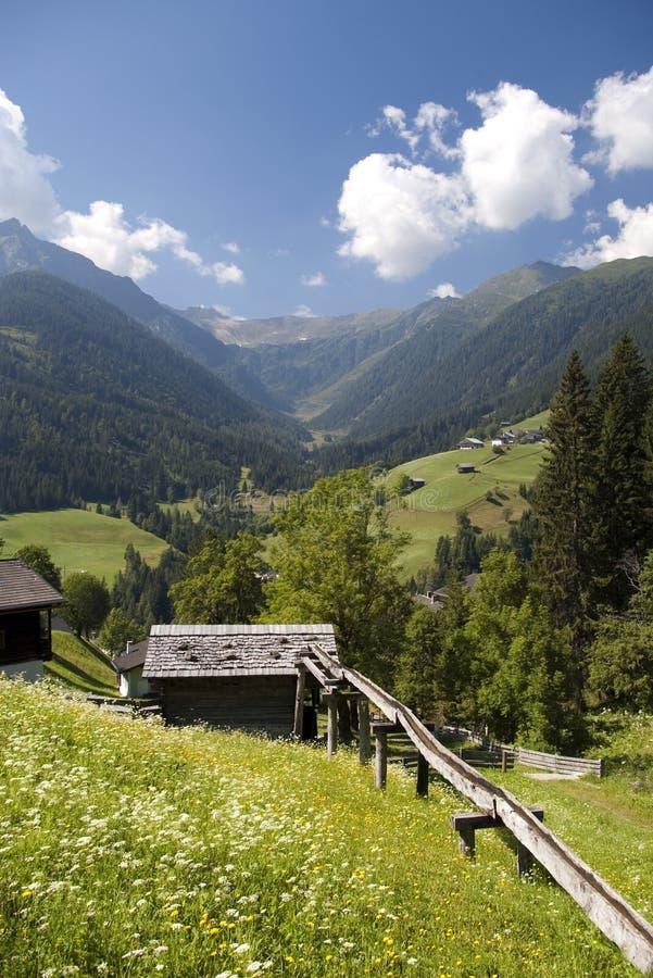 Download Mountaiin Valley Village In Austrian Alps Royalty Free Stock Photos - Image: 18240778
