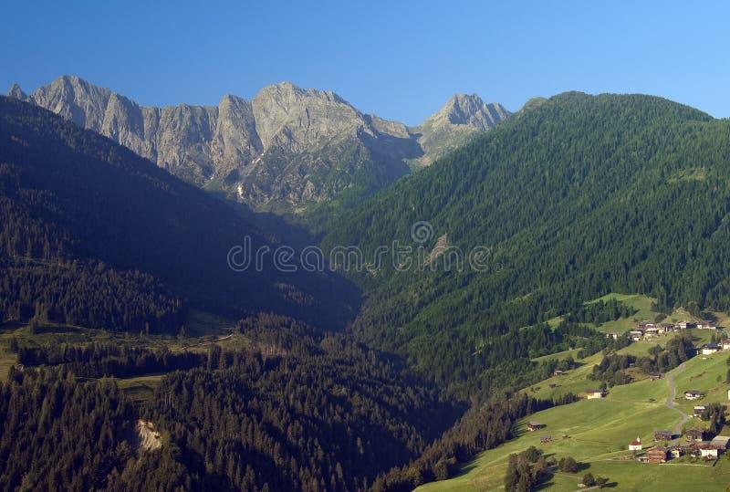 Download Mountaiin Valley Village In Austrian Alps Stock Image - Image: 18272747