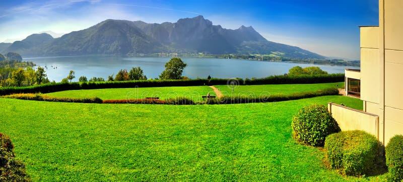 Mountain湖在奥地利阿尔卑斯 免版税库存照片