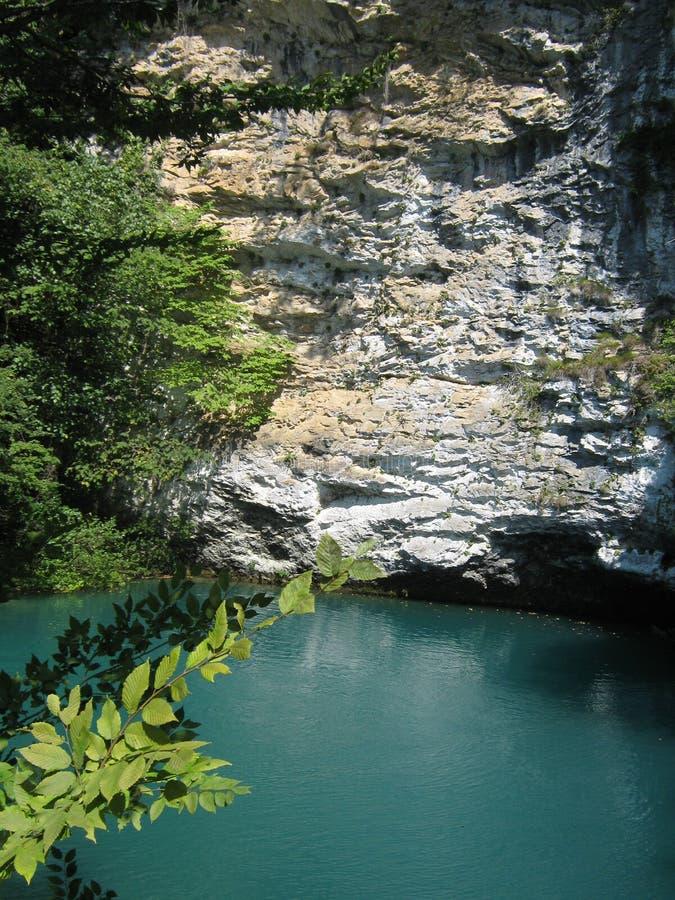 Mountain湖在阿布哈兹 免版税图库摄影