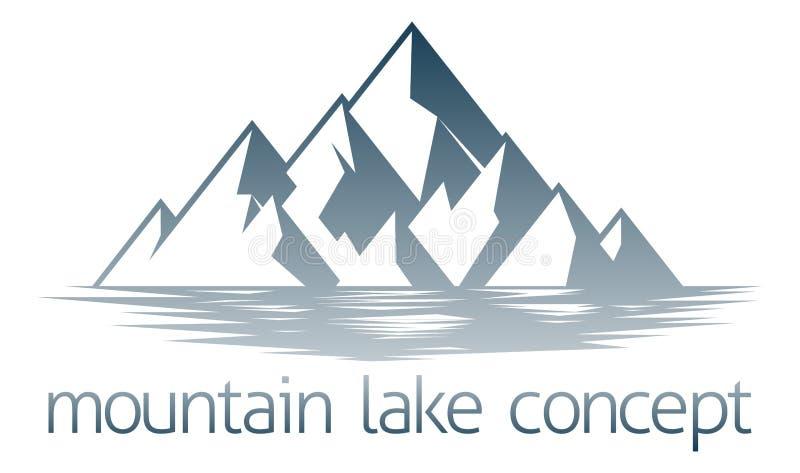 Mountain湖概念 皇族释放例证