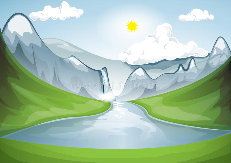 Mountain湖 向量例证