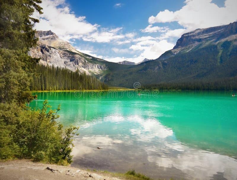 Mountain绿色湖,鲜绿色湖 库存照片