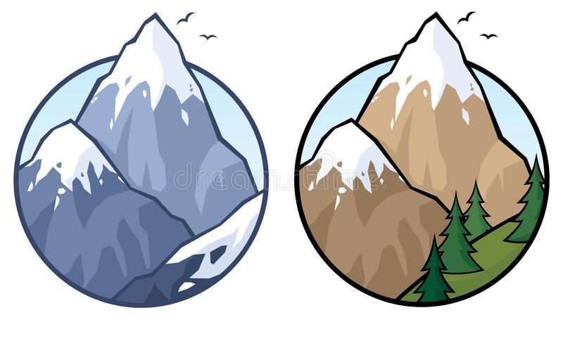 Download Mountain stock vector. Image of snow, birds, mountaineering - 15324786