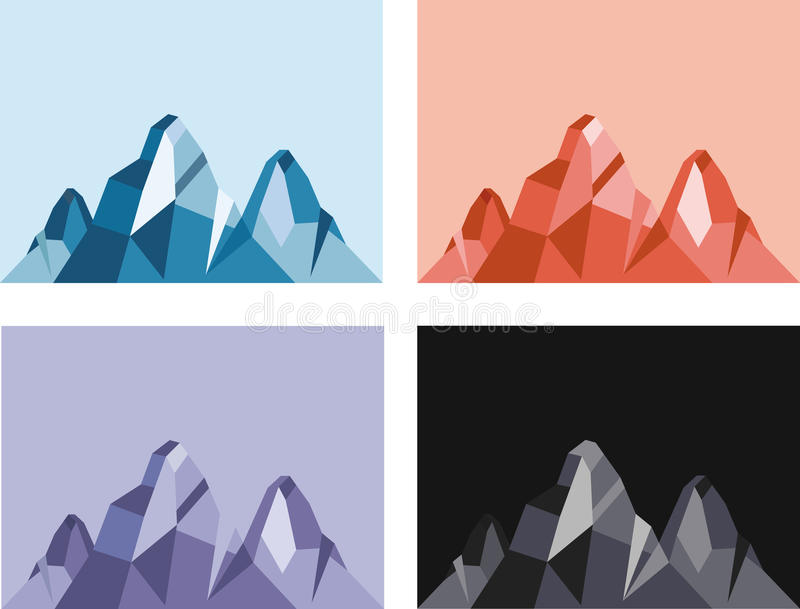Mountain vector royalty free illustration