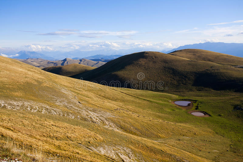 Mountain in abruzzo. Mountain landscape in the national park of Abruzzo in Italy royalty free stock photo