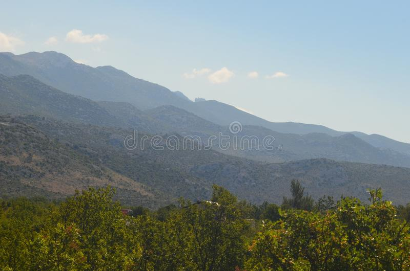 Selina, Croatia, Adriatic Sea, Mountain stock image