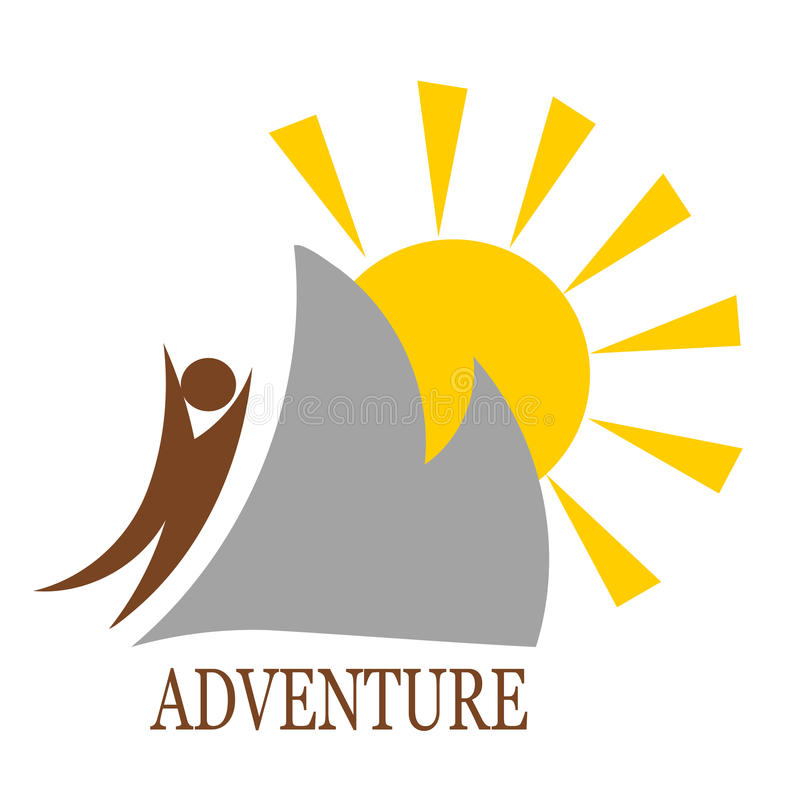 Download Mountain adventure stock vector. Image of landscape, symbol - 25864280