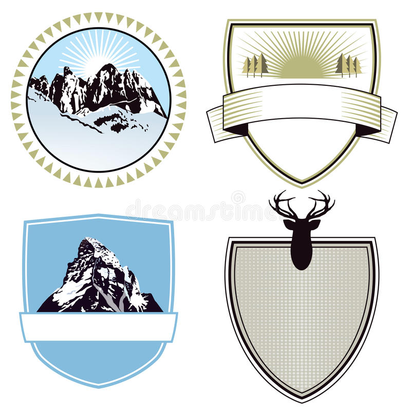 Download Mountain Adventure And Expedition Badges Stock Vector - Image: 28788809