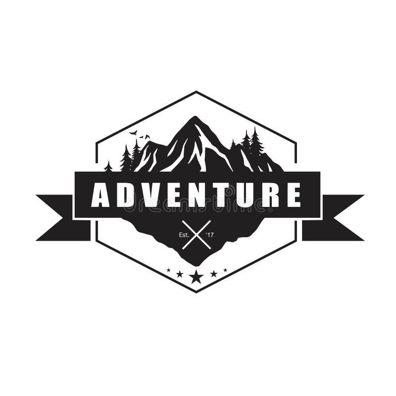 Mountain Adventure Logo Template Vector Illustrator Eps
