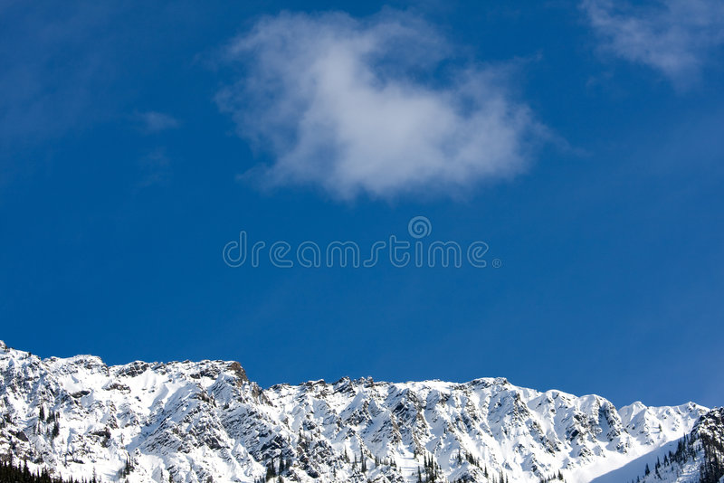 Mountain air. Fresh mountain air - Rocky Mountains in Canada near Glacier, BC stock photo