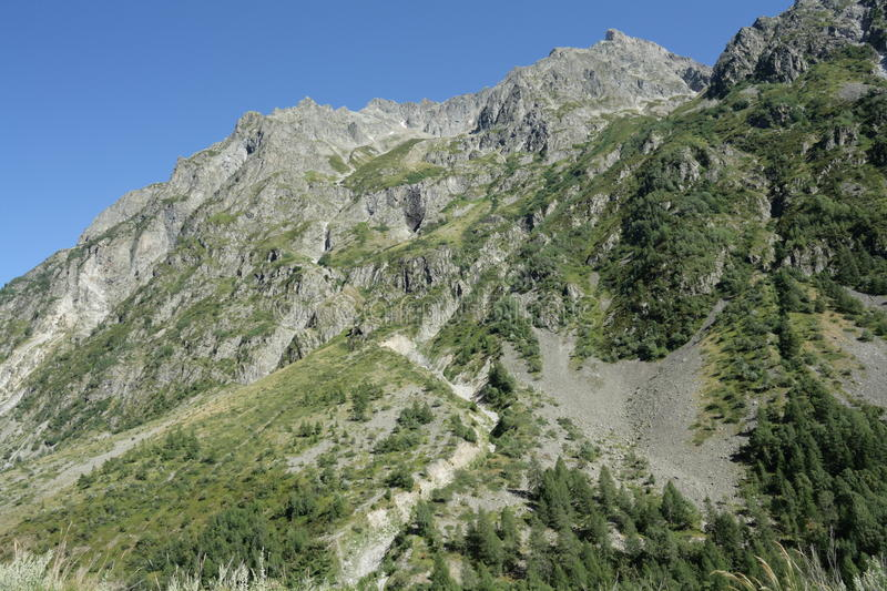 Mountain in Alps, France. Mountain in Alps, Champsaur, Provence region of France stock photo