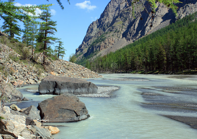 Download Mountain Altai. The River Maashej. Stock Image - Image: 7602467