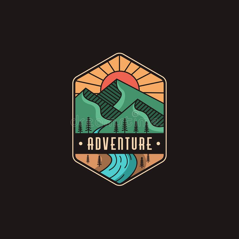 Free Mountain And River Landscape Adventure Logo Icon Royalty Free Stock Photography - 194736667
