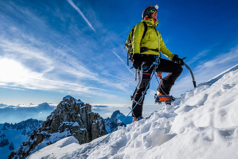 Mountain ascent royalty free stock image