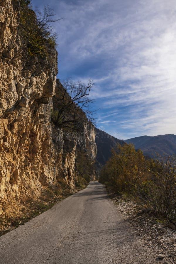 Mountain asphalt road royalty free stock photography