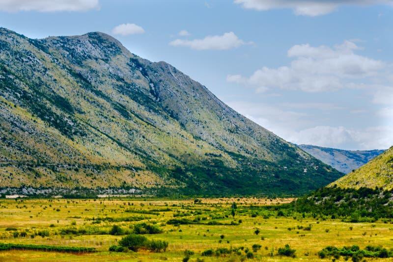 Mountain autumn landscape.Yellow autumn in the mountains of Albania, Montenegro, Albania, Bosnia,  Dinaric Alps Balkan Peninsula. Ð¡an be used for postcards stock image