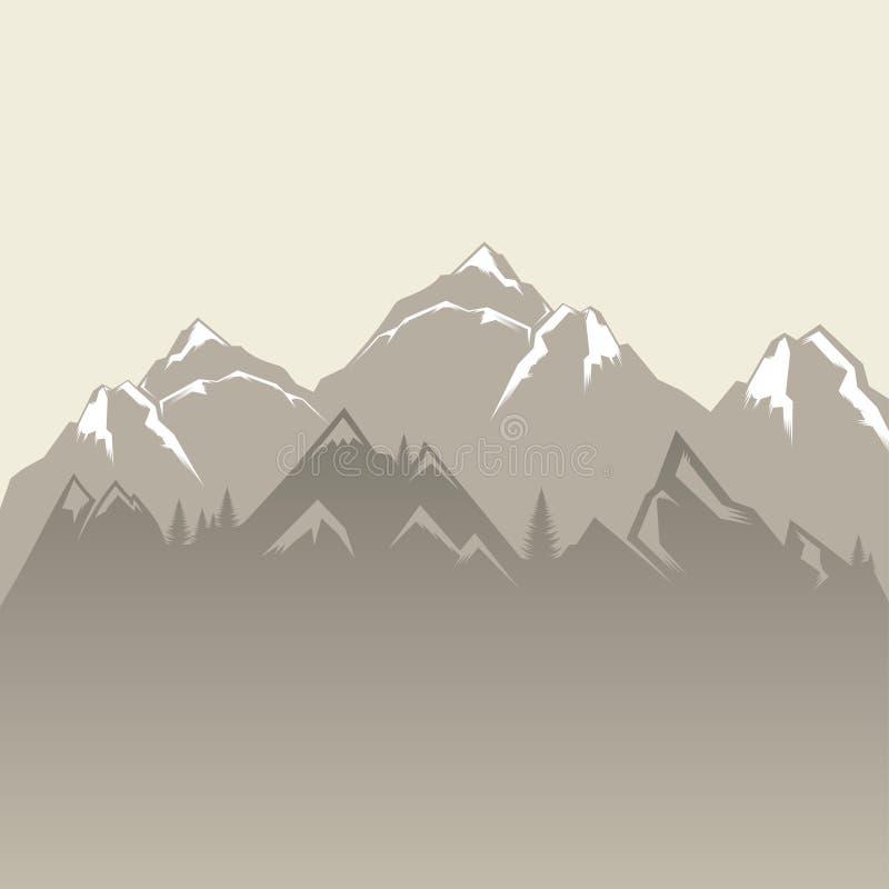 Mountain Background vector illustration