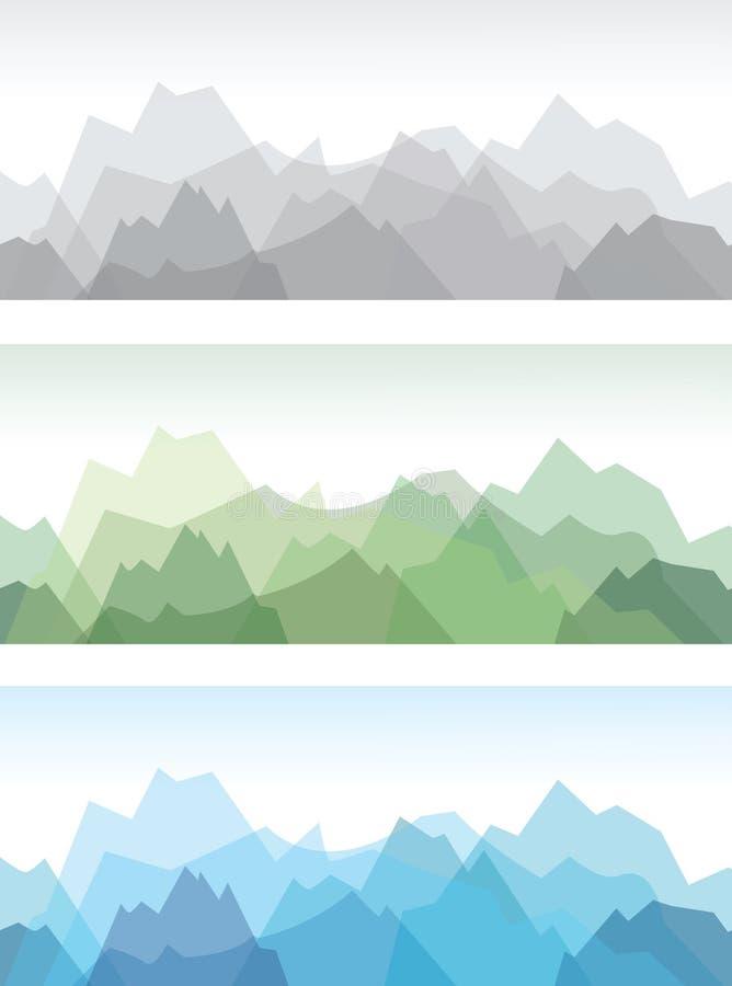 Mountain background stock illustration