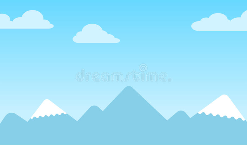 Mountain background with snow-capped peaksMountain background with snow-capped peaks royalty free illustration