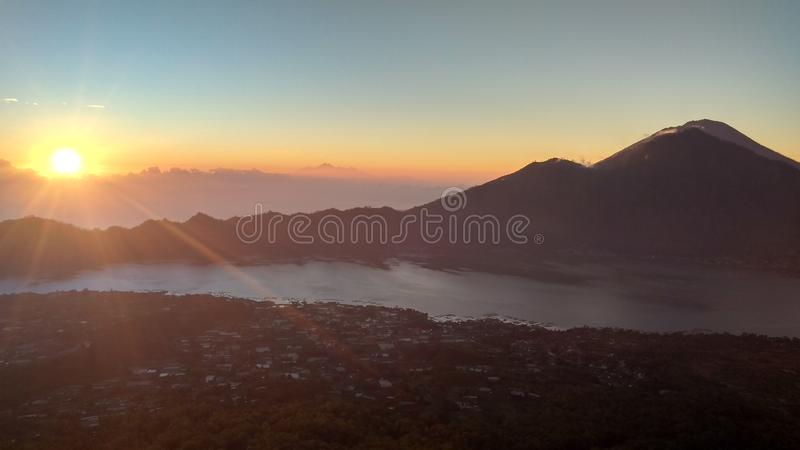 Mountain Batur Bali royalty free stock photography