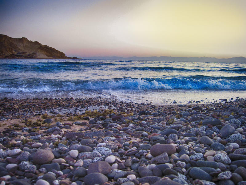 The Mountain beach stock images