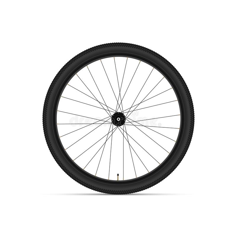 Mountain Bicycle Wheel. 3D Realistic Vector Illustration royalty free illustration