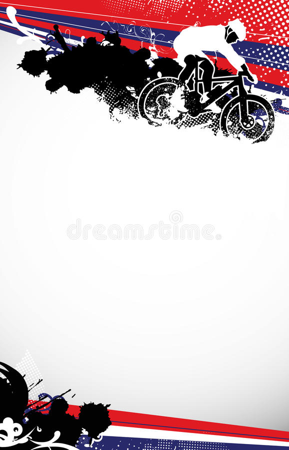 Download Mountain bike stock illustration. Image of event, graphic - 25639731
