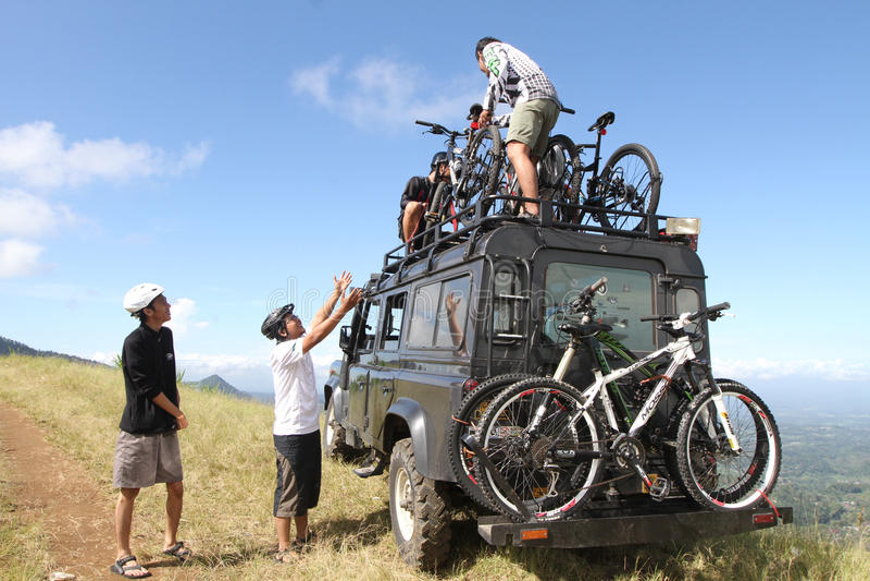 Mountain bike fotografia de stock royalty free
