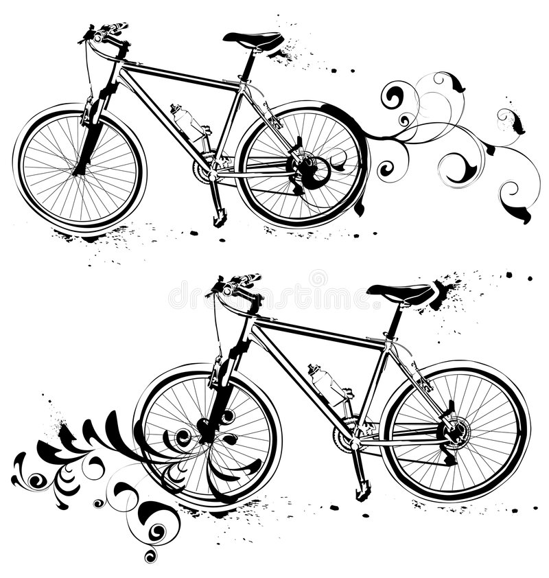 Download Mountain bike stock vector. Illustration of forks, friendly - 5282335